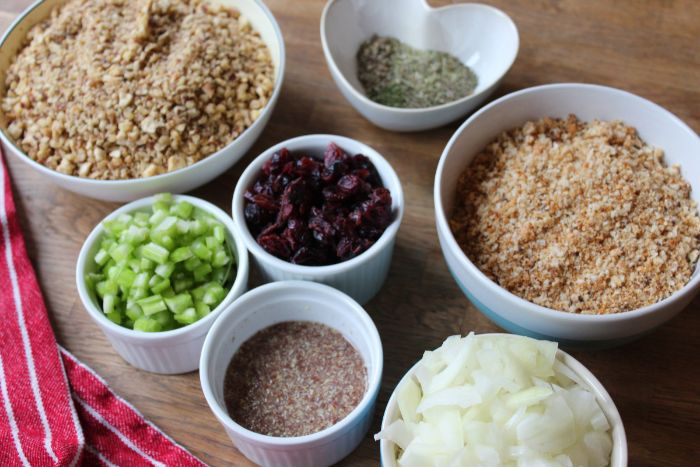 gluten free vegan stuffing balls ingredients