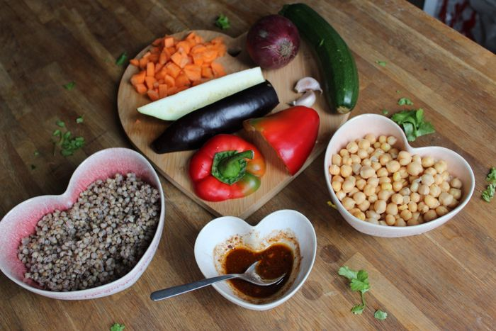 gluten-free moroccan chickpeas ingredients